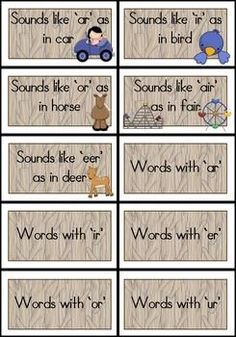 R-Controlled Vowel Word Sorts with Pictures $5.99