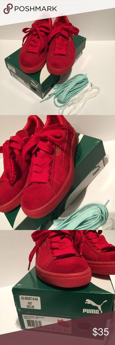 09b4e48d33af Puma Classic Red Suede Sneakers Suede Classic + Mono Iced sneakers Color   high risk red