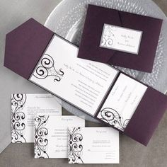 The mesmerizing Tips Easy To Create Carlson Craft Wedding Invitations Free Of Best Carlson Craft Wedding Invitations Free Pocket Invitation, Invitation Card Design, Wedding Invitation Design, Craft Wedding, Our Wedding, Wedding Ideas, Purple Wedding, Elegant Wedding, Wedding Ring