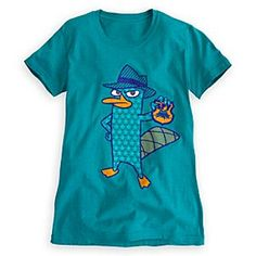 Disney Perry Tee for Women | Disney StorePerry Tee for Women - Perry the Platypus goes public with his Agent P identity on this fun fashion tee for women with glittering Perry line art.