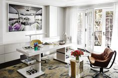 Timeless office with a touch of traditional and a penchant for edgy. ELLEDecor.com