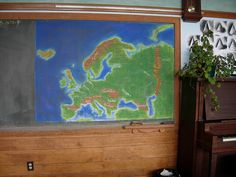 Waldorf ~ 6th grade ~ Geography ~ Europe ~ map ~ chalkboard drawing