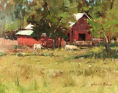 Old Cline Smith's by Kathie Odom, Oil on Linen, 11 x 14 Will Smith, House Styles, Gallery, Barns, Artworks, Landscapes, Painting, Oil, Decor