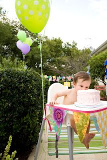 first birthday decorations highchair