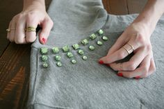 DIY your gnarly old sweatshirt into a glam statement piece! Photos by Sara Haile.