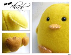 This felt chick would be cute for Easter.