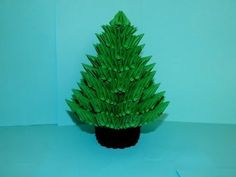 3D origami Christmas Tree tutorial part2 - YouTube