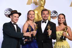 Mark Rylance, Brie Larson, Leonardo DiCaprio y Alicia Vikander.