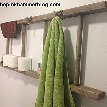 Upcycled/ Repurposed Ladder | Bathroom Shelf DIY