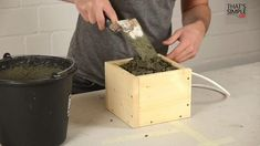 DIY - Concrete Lamp : 9 Steps (with Pictures) - Instructables Concrete Cement, Concrete Furniture, Concrete Crafts, Concrete Projects, Concrete Design, Furniture Design, Cement Garden, Kid Furniture, Plywood Furniture