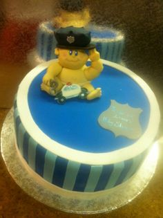 Baby Cop ! Baby Shower Cakes by Conti's Bronx NY