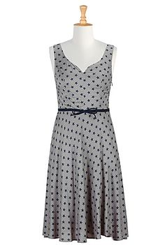 I <3 this Star print sweetheart dress from eShakti