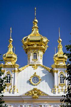 The Peterhof Grand Palace, Peterhof, near St. Petersburg, Russia