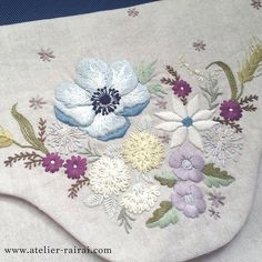 Supreme Best Stitches In Embroidery Ideas. Spectacular Best Stitches In Embroidery Ideas. Embroidery Flowers Pattern, Crewel Embroidery, Cross Stitch Embroidery, Embroidery Designs, Creative Embroidery, Satin Stitch, Crochet Squares, Crochet Flowers, Handmade Crafts