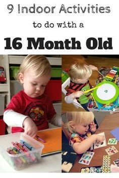 9 Indoor Activities To Do With A 16 Month-Old - The Reading Residence - Craft ideas for the family - Activities For One Year Olds, Indoor Activities For Toddlers, Fun Activities To Do, Rainy Day Activities, Toddler Learning Activities, Montessori Activities, Infant Activities, Family Activities, Fun Games