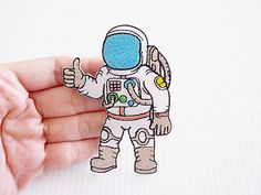 Astronaut New Iron On Patch Embroidered Applique von LikePatches