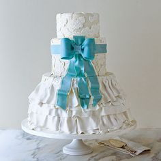 Best Dressed Wedding Cake - Wedding Cakes with Pictures - Southern Living