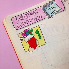 Day 1 in the Christmas Countdown for the challenge, with the prompt 😜 Super excited! Wishing everyone an amazing month full of laughter and precious moments! Bullet Journal Christmas, Bullet Journal Month, Bullet Journal Junkies, Bullet Journals, Diy Agenda, Agenda Planner, Journal Prompts, Journal Pages, Journal Ideas