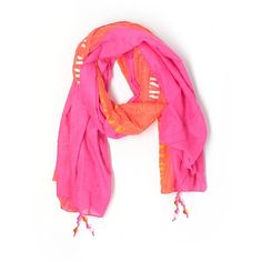 Victoria's Secret Scarf ($30) ❤ liked on Polyvore featuring accessories, scarves, pink, victoria's secret, pink shawl and pink scarves