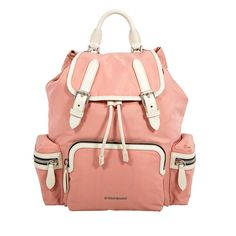 b60003e38ae3 Shop for Medium Nylon and Leather Rucksack- Powder Pink by Burberry at  JOMASHOP for only