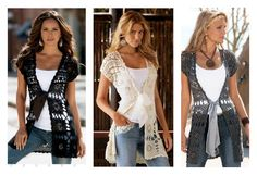 Long vests harmonizes with skinnies and a shorter dress or skirt. If you love crocheting, you can make one with this Vest Free Crochet Pattern.