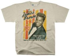 Tshirt:Soul-James Brown Fabulous 18 Piece Playbill