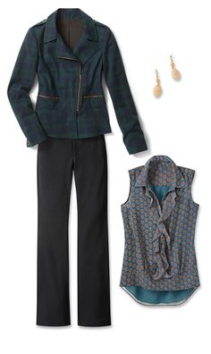 Check out five unique ways to mix and match the Tartan Jacket with other cabi items!