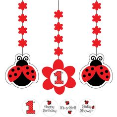 1st+Birthday+Ladybug+Theme | ... processing from Birthday Direct - Ladybug 1st Birthday Party Supplies