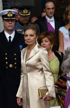 14 May 2004, Copenhagen, Denmark --- Empress Farah of Iran at the Royal wedding in Copenhagen Cathedral --- Image by © Tim Graham/Corbis