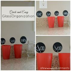 Quick and Easy Glass Organization All Craft, Love Craft, Neat And Tidy, Pantry Ideas, Kitchen Ideas, Bee Crafts, Funky Junk, Organization Hacks, Organizing
