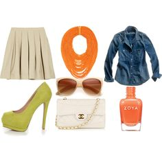 A Splash of Tangerine for Spring, created by girlfriend007 on Polyvore, contest entry @Refined and Polished