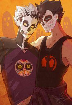 halloween bokuto and kuroo!!