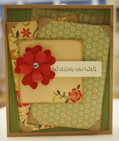 Wishing You Well Card by Christine Emberson