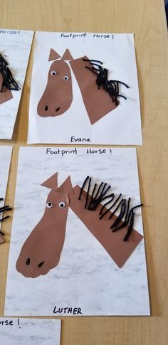 Our February theme is Farm animals and today we learned about Horse . We did this craft with our Toddlers and preschoolers and the kids really enjoyed. Farm Theme Crafts, Farm Animal Crafts, Animal Crafts For Kids, Horse Crafts Kids, Preschool Art Projects, Kindergarten Crafts, Classroom Crafts, Preschool Crafts, Farm Animals Preschool