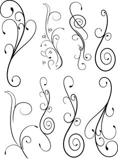 Nice swirls for quilling Quilling Patterns, Zentangle Patterns, Embroidery Patterns, Brush Embroidery, Zentangles, Free Motion Quilting, Wire Art, Paper Quilling, Doodle Art