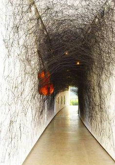 """minunblogi: """" Installation Art…State of Being by Chiharu Shiota, Japan…double bass, violin, and black wool. https://www.facebook.com """""""