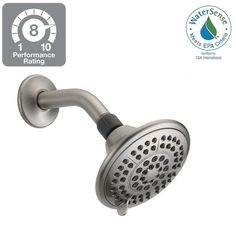 Delta 5-Spray 5 in. Shower Head in Brushed Nickel with Pause-75554SN - The Home Depot