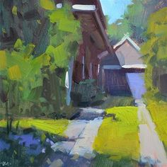 "Daily Paintworks - ""Purple Accents"" - Original Fine Art for Sale - © Carol Marine"
