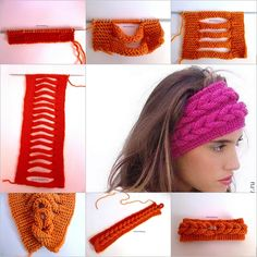 How to DIY Knit Faux Braid Headband Tutorial with video