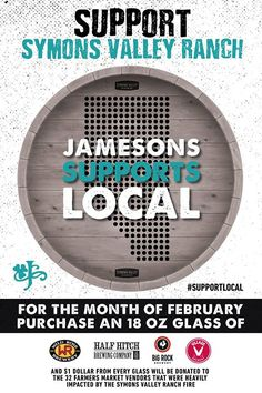 The incredible support of Calgary and the community keeps pouring.  As you know - our vendors lost everything in the fire - product inventory and equipment.  Thank you to your friends of Jameson's Pub for going above and beyond.  For the month of February at both Jameson Pub locations $1 from every 18 oz pour of Half Hitch Wildrose Village & Big Rock will go towards the farmers market vendors that were affected.  THANK YOU JAMESONS PUB!!!!!!  We encourage everyone to pop into one of their…
