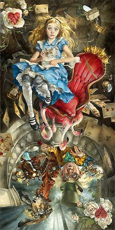 ALICE IN WONDERLAND - WE'RE ALL MAD HERE BY HEATHER THEURER