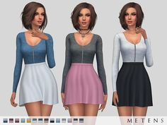 Comes in 14 colours.  Found in TSR Category 'Sims 4 Female Everyday'
