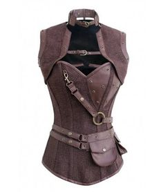 Belted Steampunk Overbust Corset
