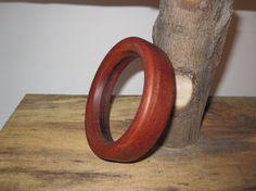 Jatoba Brazilian Cherry Wooden Bangle Bracelet by psItsDebbie, $25.00