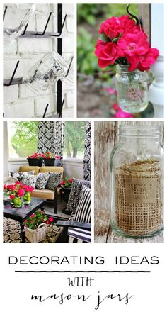 Five Simple Ideas for Decorating With Mason Jars – DIY Crafts Mason Jar Crafts, Mason Jar Diy, Cute Crafts, Diy Crafts, Thistlewood Farms, Ball Jars, Farmhouse Chic, Industrial Farmhouse, Retro