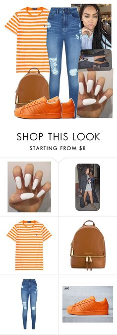 """Polo Contest"" by shadea04 ❤ liked on Polyvore featuring Ralph Lauren, MICHAEL Michael Kors, Lipsy and adidas"