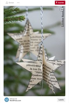 tolle Upcycling-Ideen fr Vintage Old Book tolle Upcycling-Ideen fr Vintage Old Book Pages Music Themed Nursery Diy Christmas Paper Decorations, Diy Christmas Ornaments, Holiday Decor, Diy Old Books, Old Book Crafts, Navidad Diy, 242, Idee Diy, Diy Weihnachten