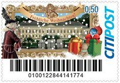 Weihnachtsbriefmarke der CITIPOST GmbH 2013 (Motiv: NKR Weihnachtskalender)