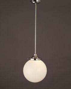 Garway White Glass Globe Bathroom Ceiling Light