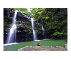 We swam in this waterfall in Hawaii